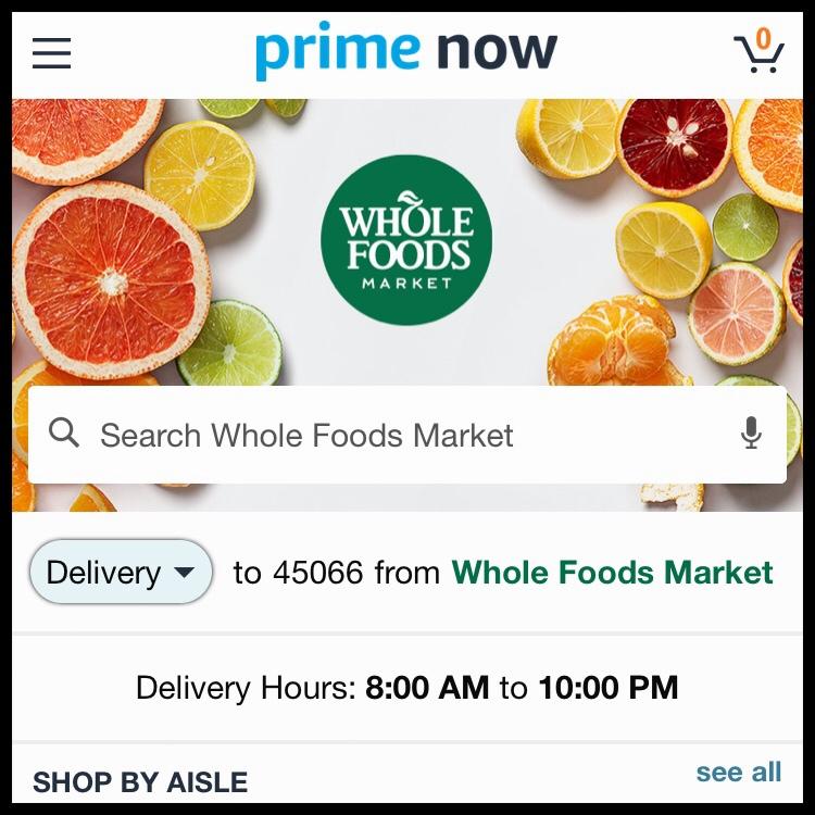 prime now shopping