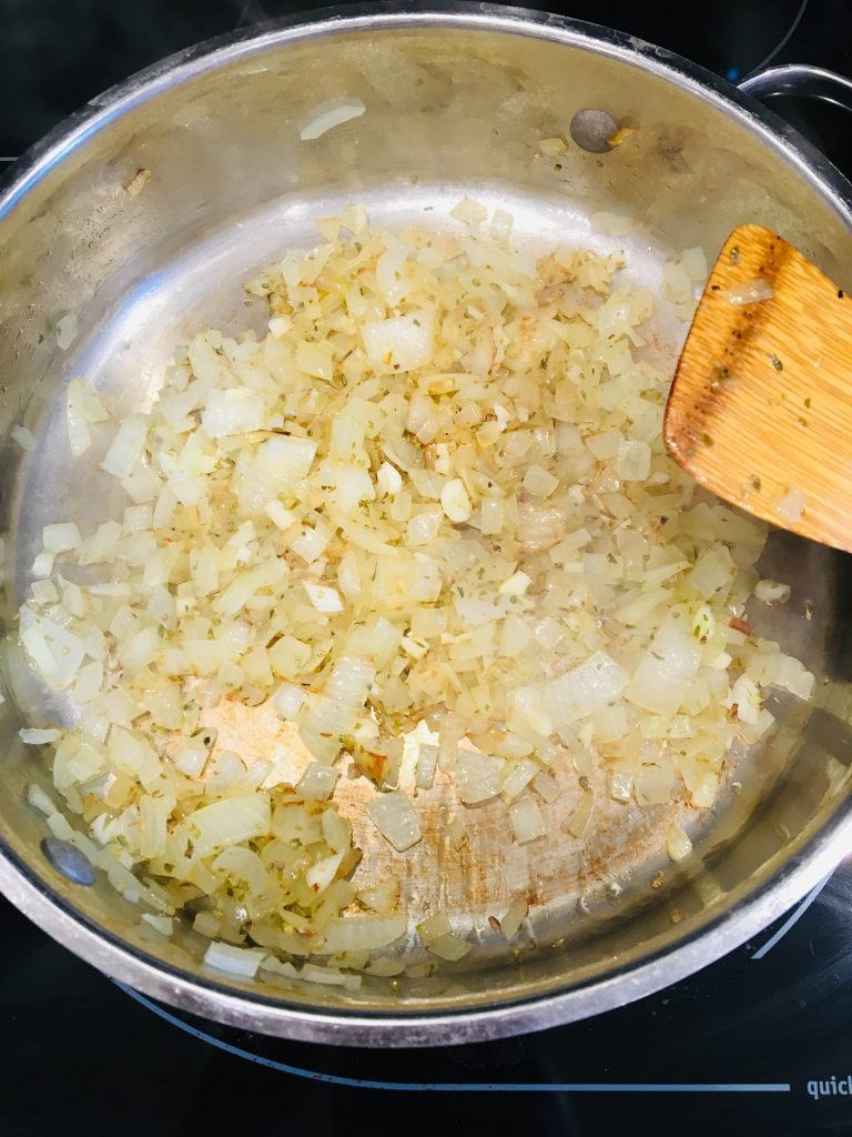 onions in skillet