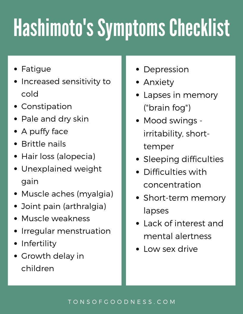 symptoms of hashimoto's thyroiditis