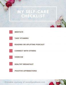self-care checklist image