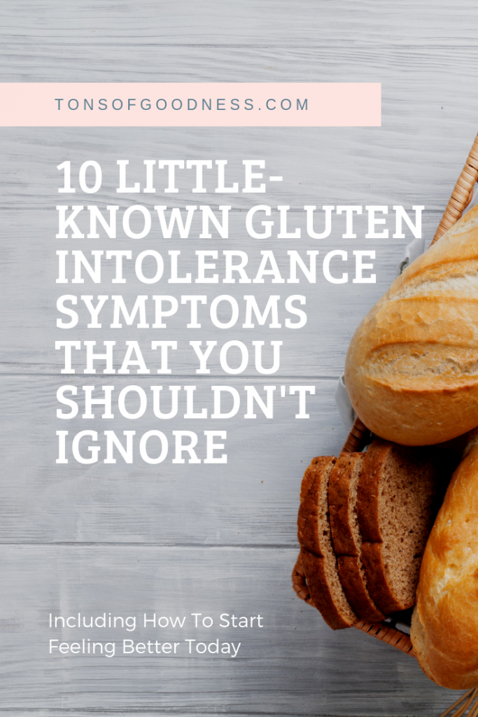 10 signs of gluten intolerance