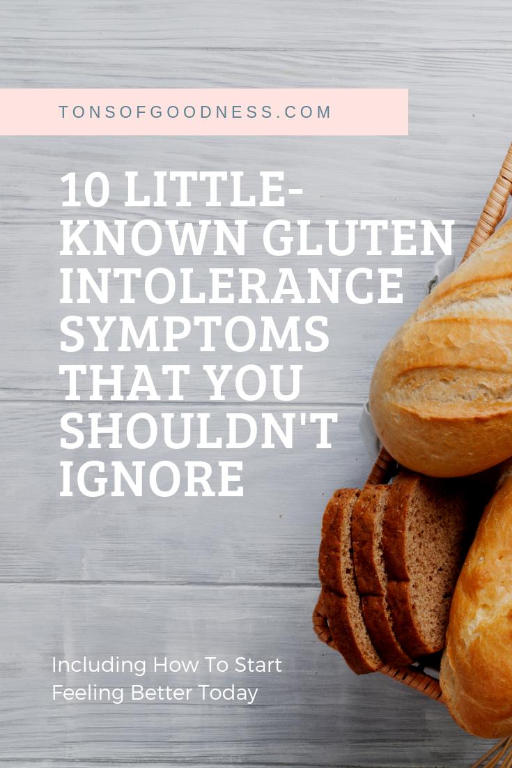 10 signs of gluten intolerance
