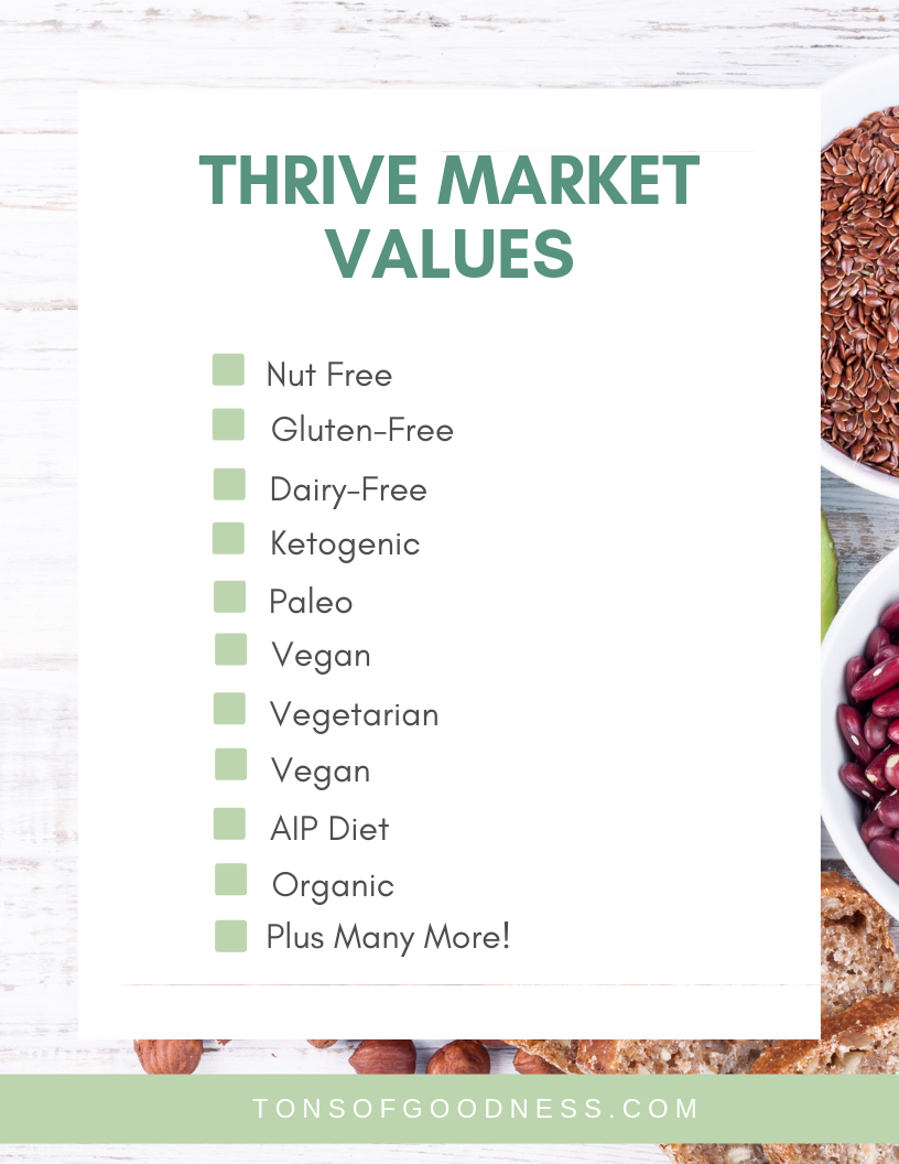 thrive market review list of diet friendly options