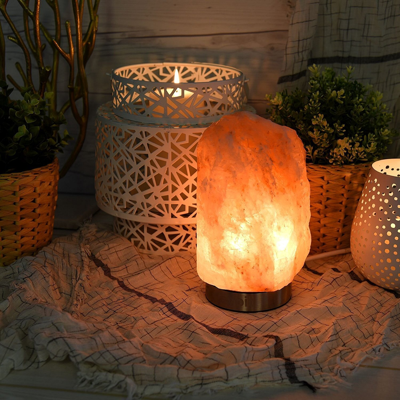 Himalayan salt lamp that is great for sleep hygiene