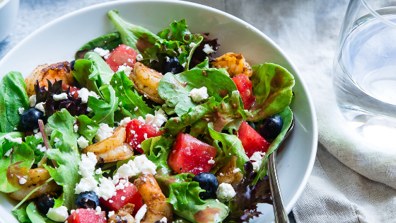 salad to help eat more fruits and vegetables to reach fitness goals