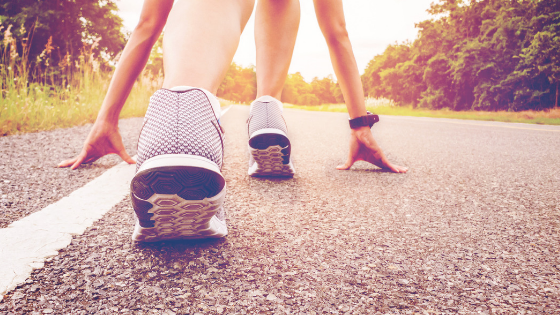 runner - get more exercise to reach fitness goal