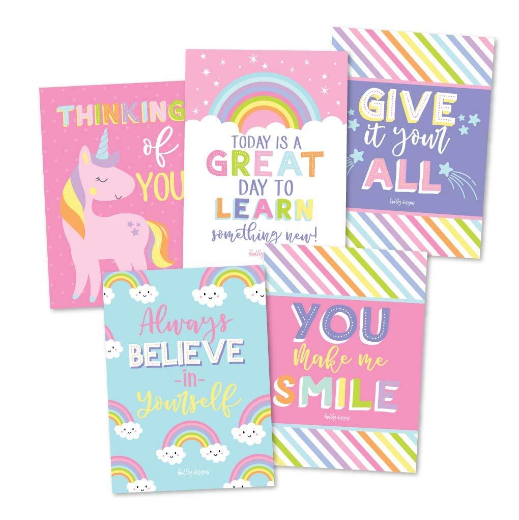 unicorn rainbow lunch box notes