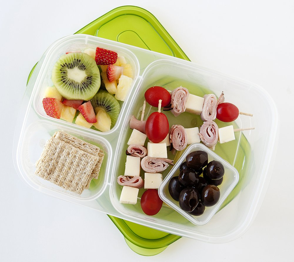 bento lunch box container for healthy school lunches