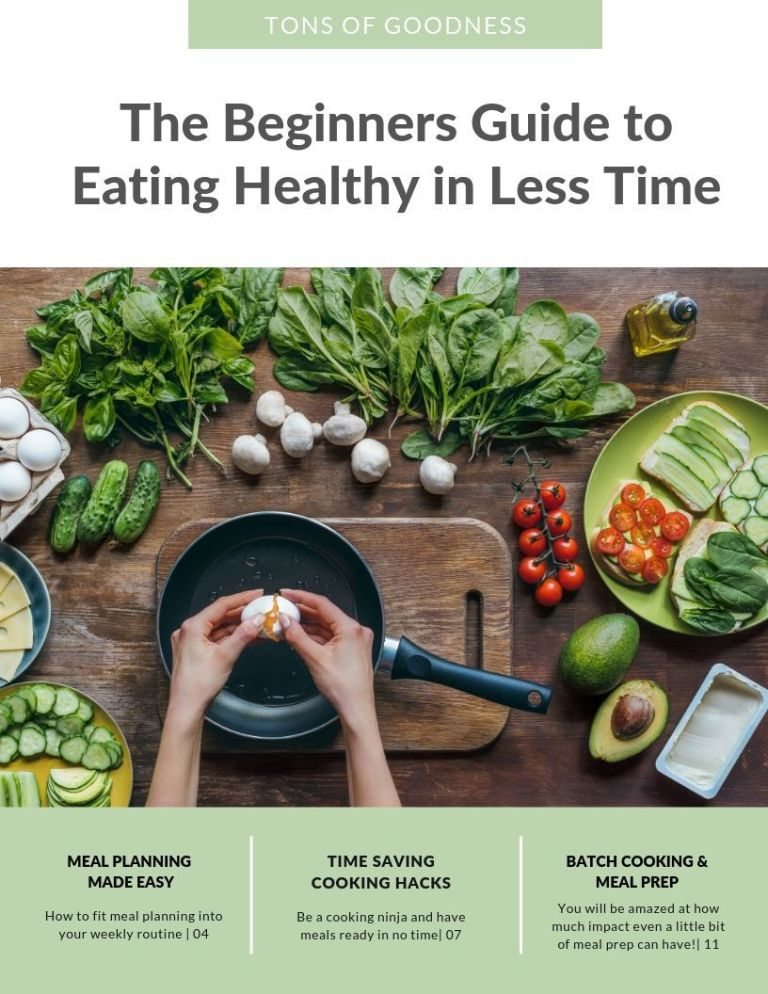 cover of beginners guide to eating healthy in less time