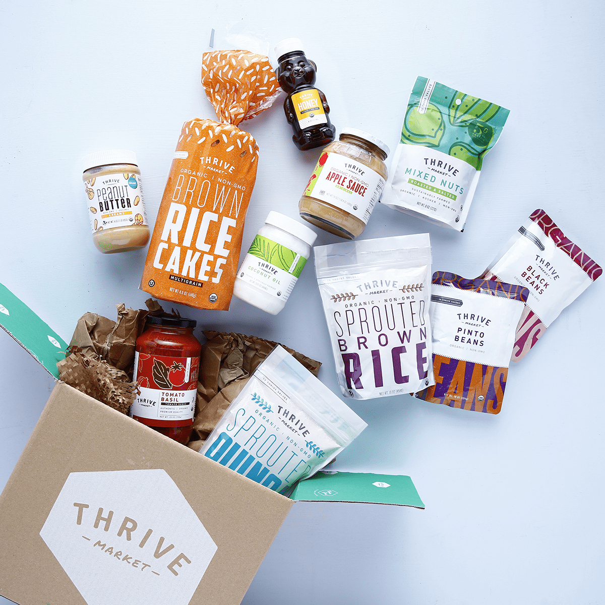 thrive market review box and products