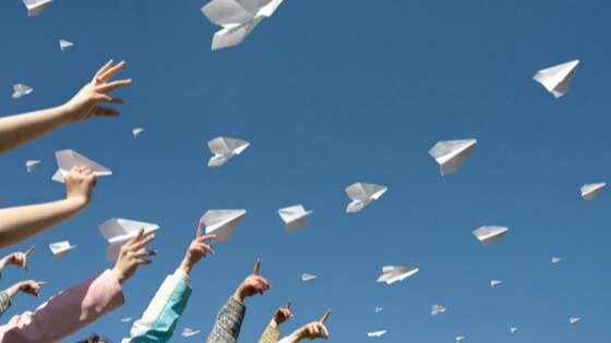 paper airplanes set a goal and let go if it's not right for you