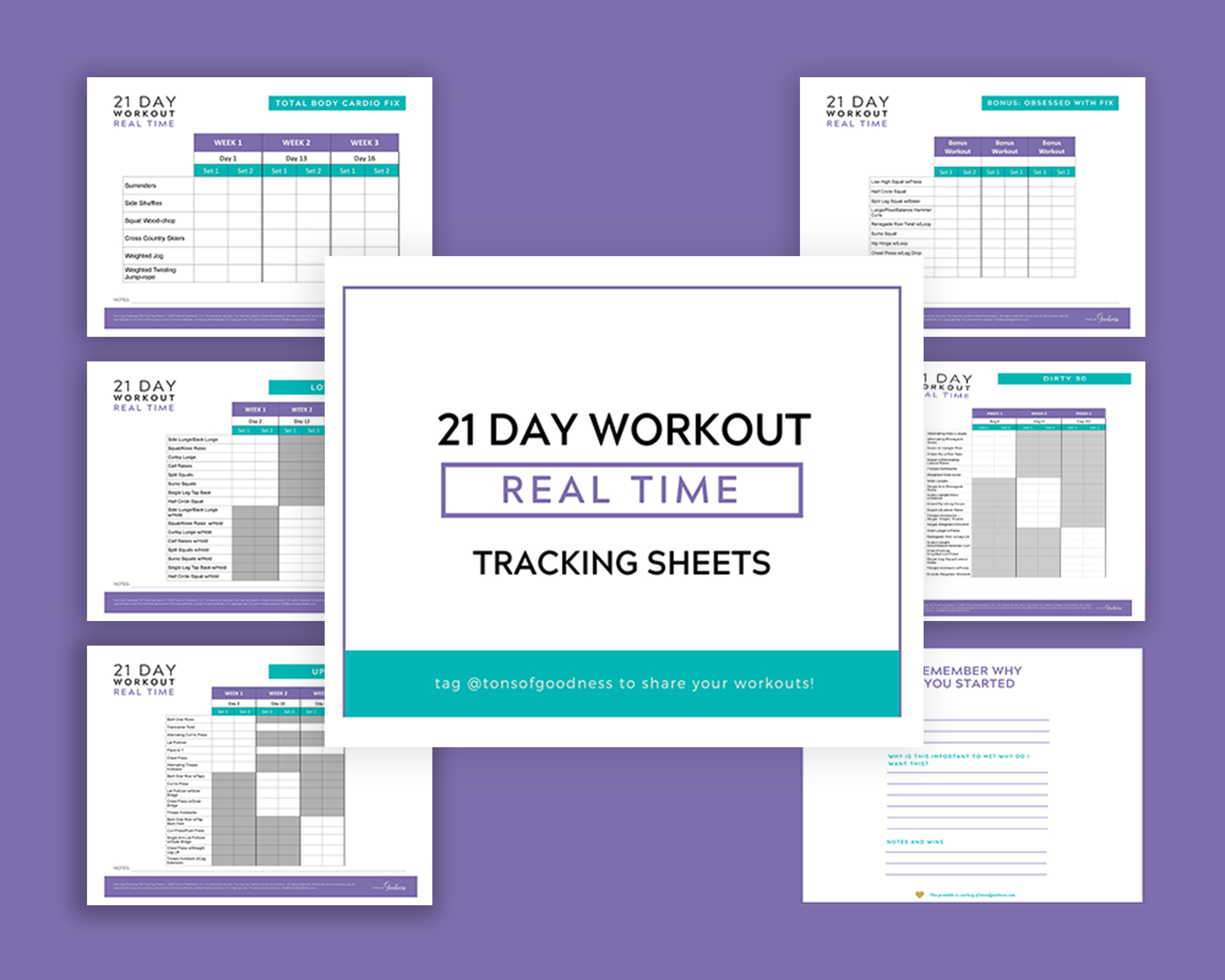 21 day fix real time tracking sheets