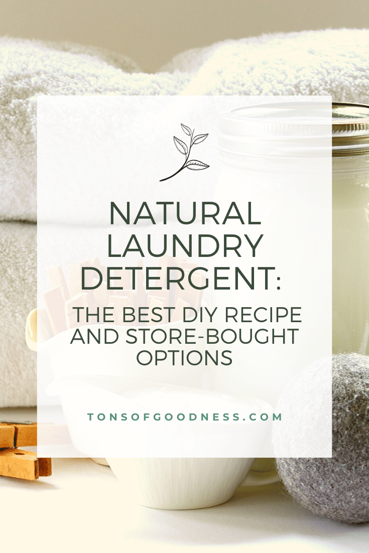 natural laundry detergent and recipe