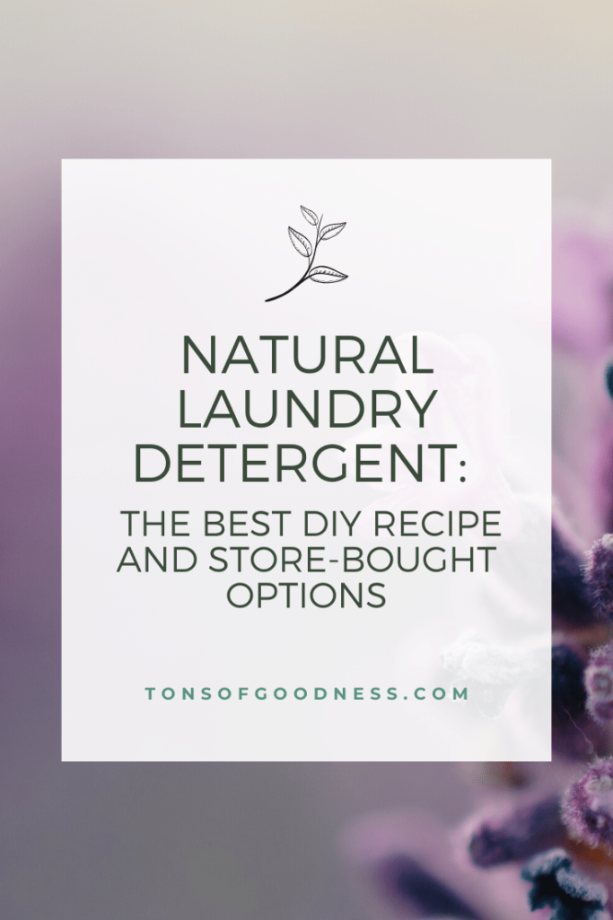 natural laundry detergent pin