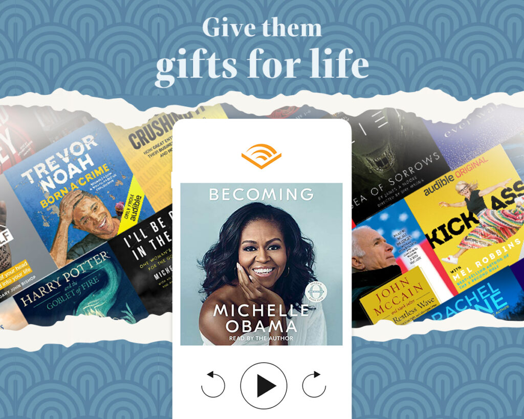 audible membership perfect for gift guide