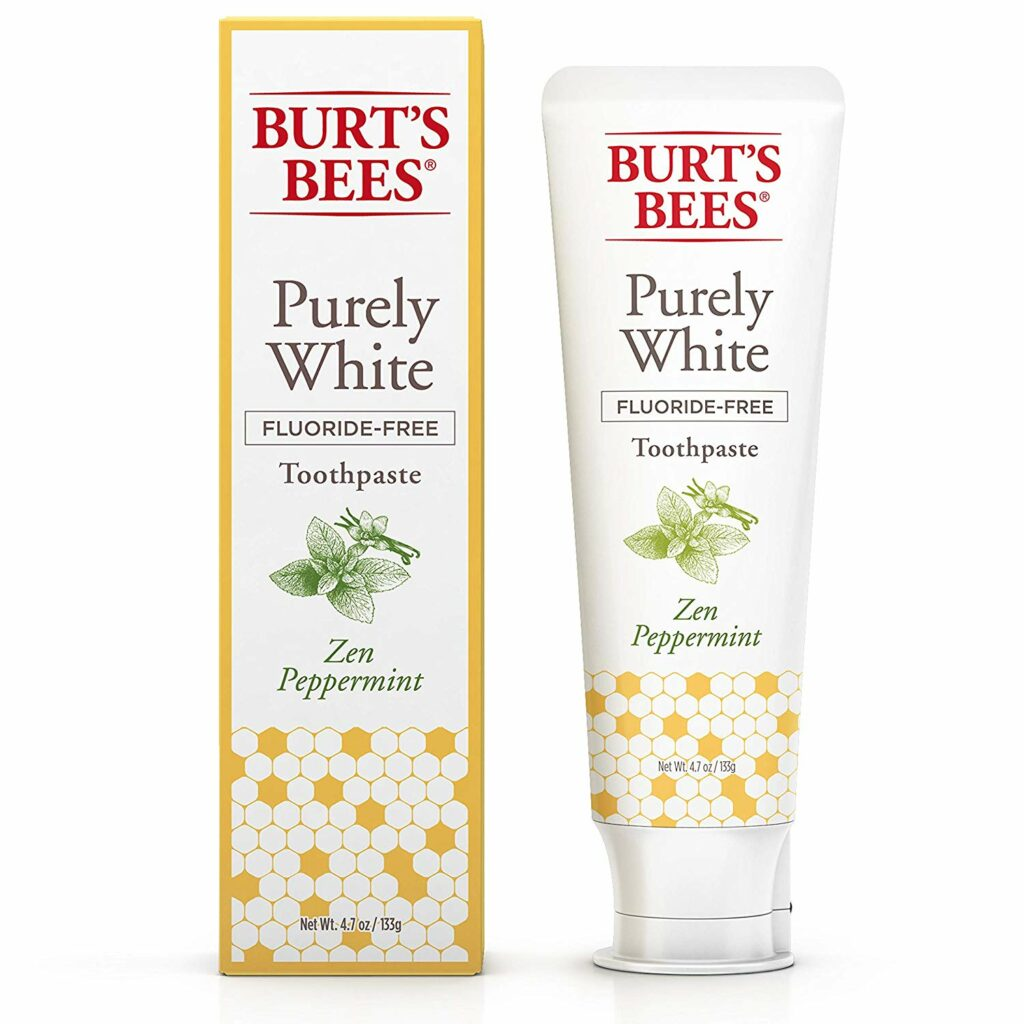 burts bees fluoride free tootpaste