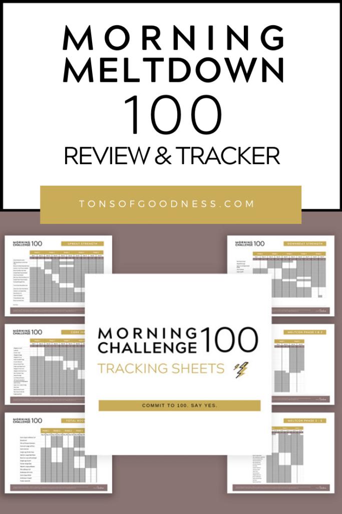 morning meltdown 100 tracking sheet