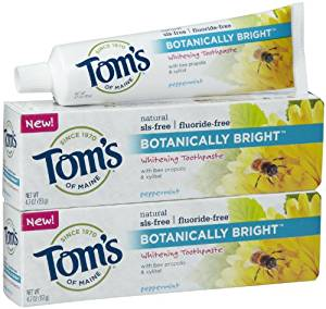 toms of main fluoride free toothpaste