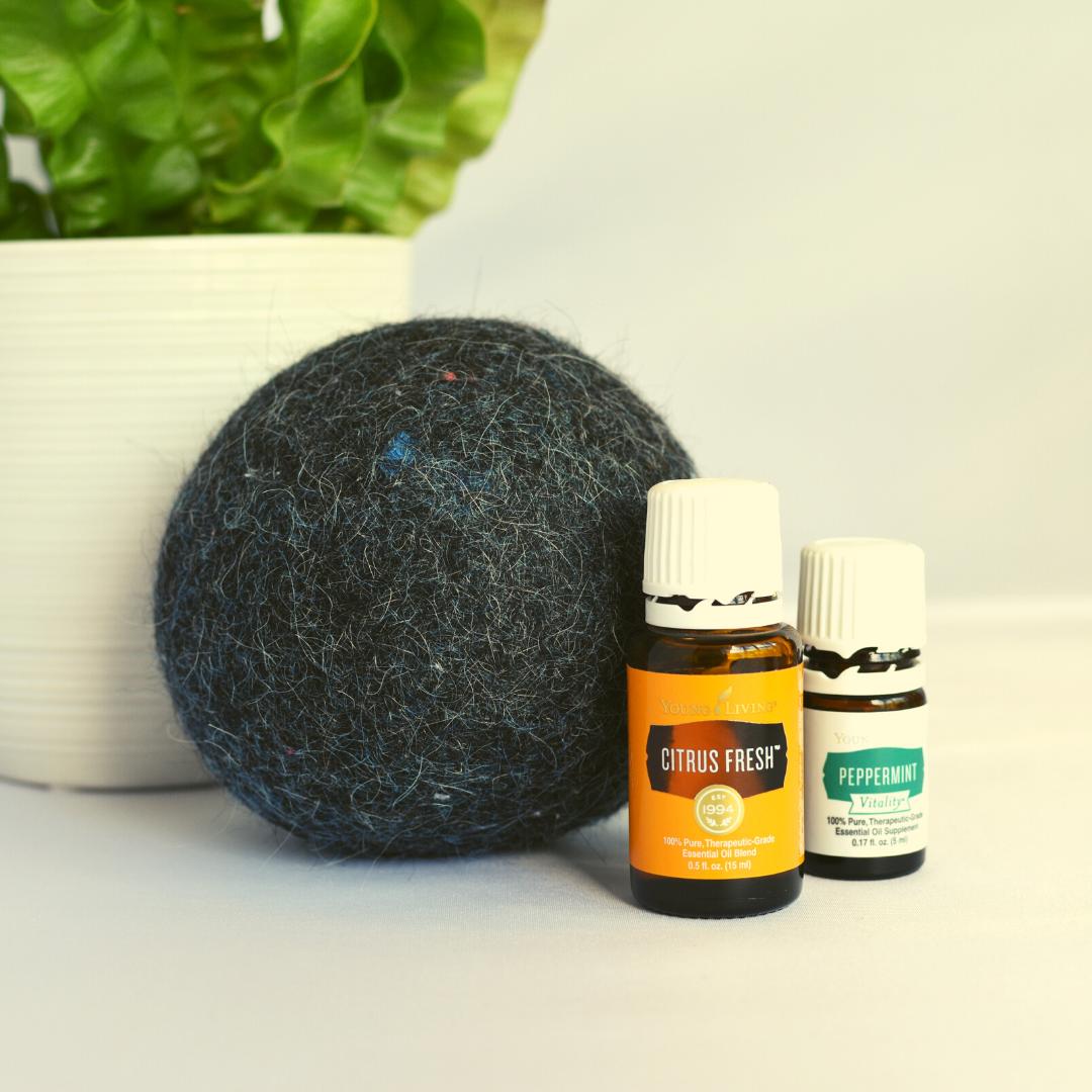 alpaca dryer balls with essential oils