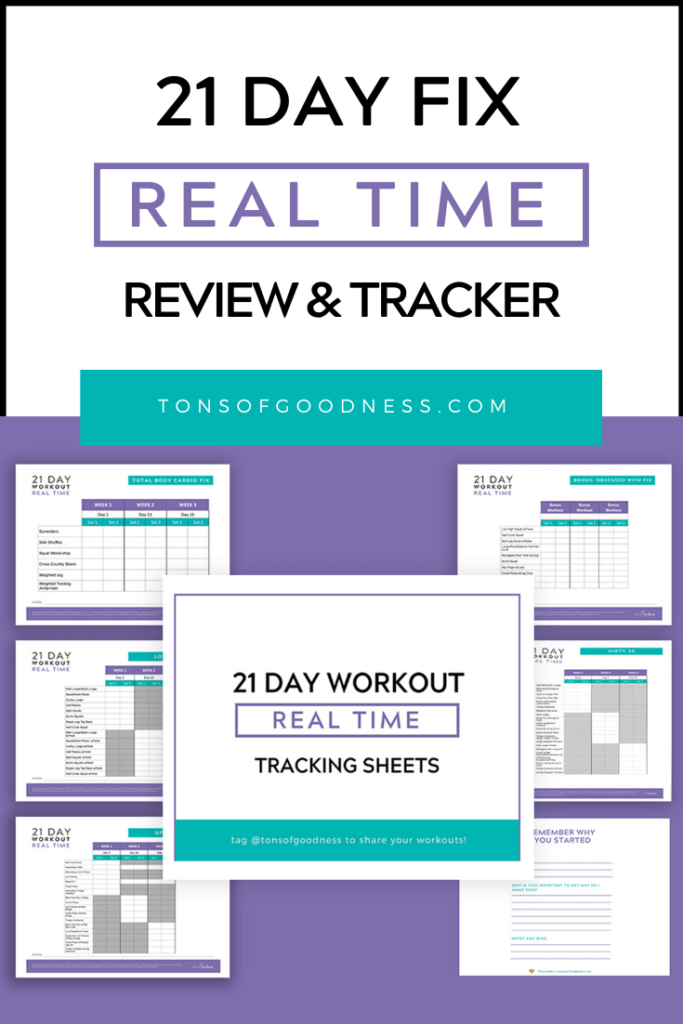 21 day fix real time image