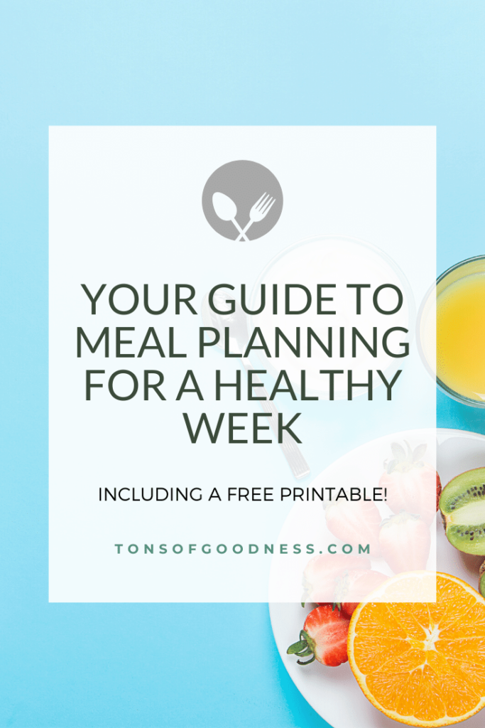 meal planning for a healthy week