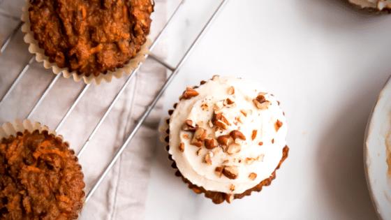 Paleo Carrot Cake Cupcakes (Healthier, Gluten Free)
