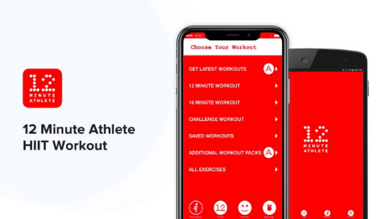12 minute athlete app for HIIT workouts