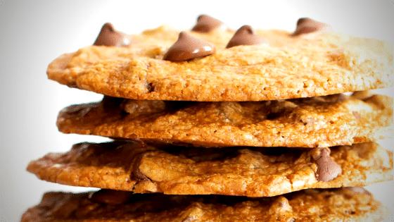 Thin & Crispy Vegan Chocolate Chip Cookies (Gluten Free, Dairy-Free)