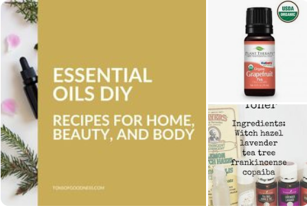 Pinterest board for Essential oil DIY projects
