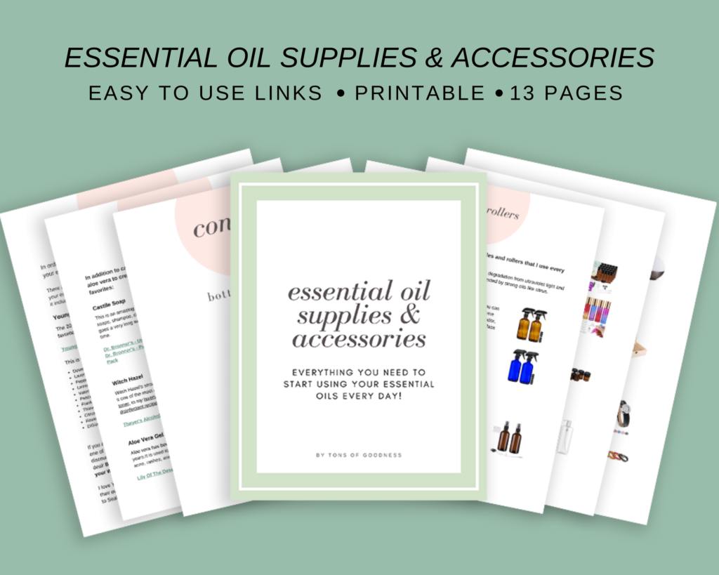 guide to essential oil supplies and accessories
