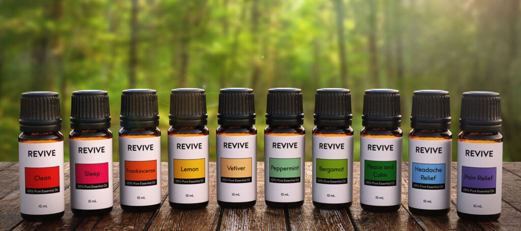 essential oils from REVIVE to make natural products