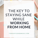 staying sane while working at home
