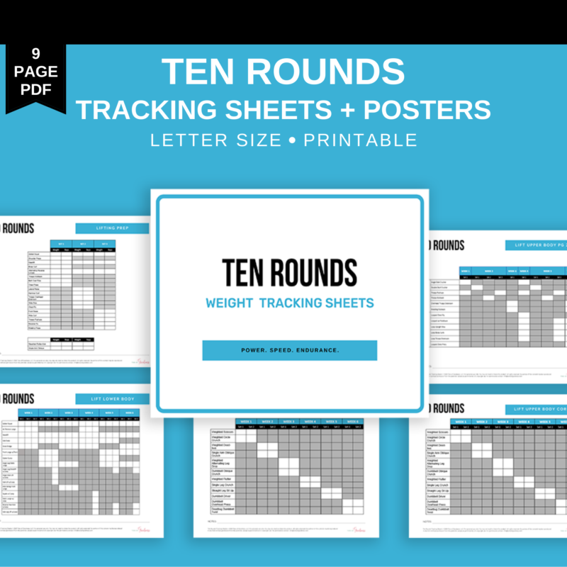 10 rounds tracking sheets