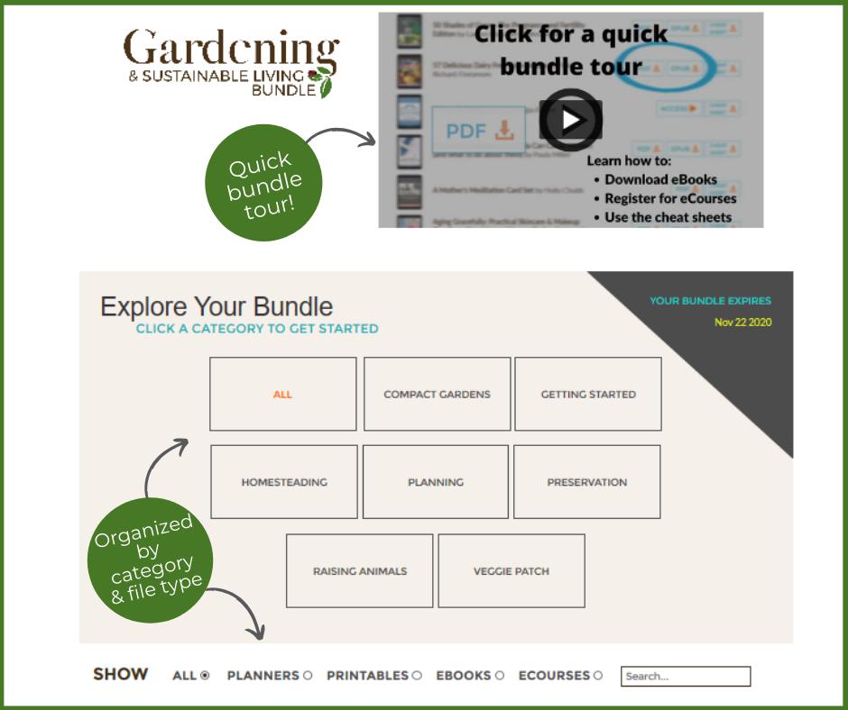 screenshot of gardening bundle