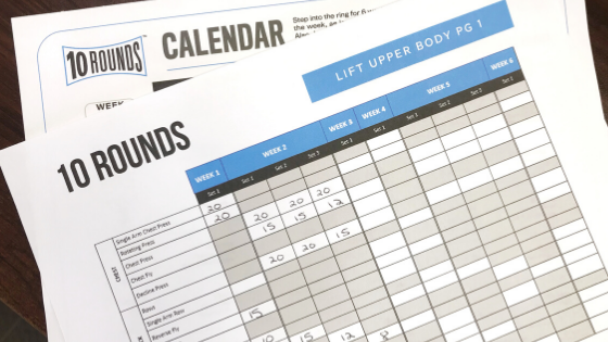 10 rounds calendar from beachbody on demand