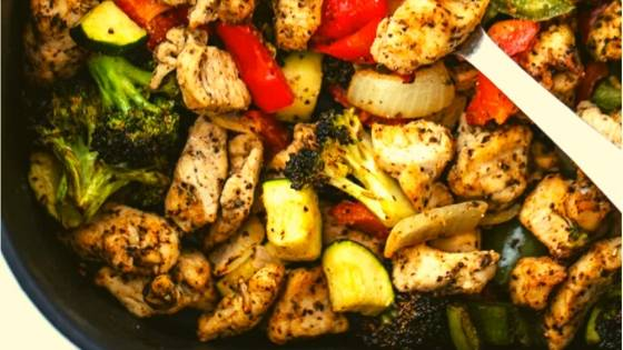 chicken with summer vegetables