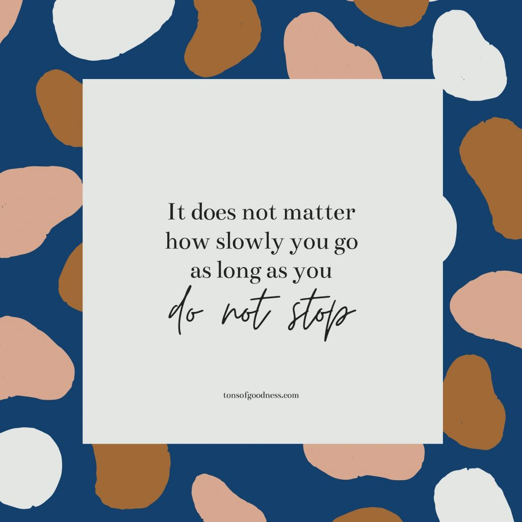 fitness motivation quote - do not stop