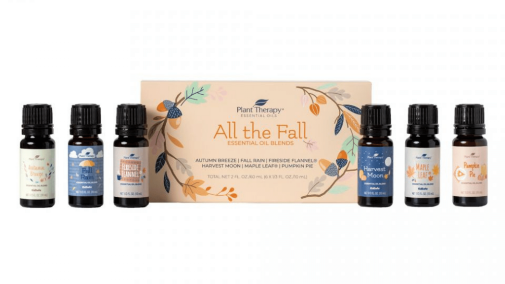 Plant Therapy set of fall essential oil blends