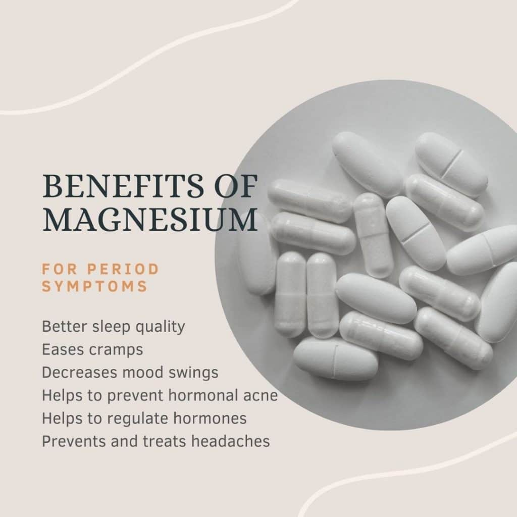 Benefits of magnesium for PMS symptoms