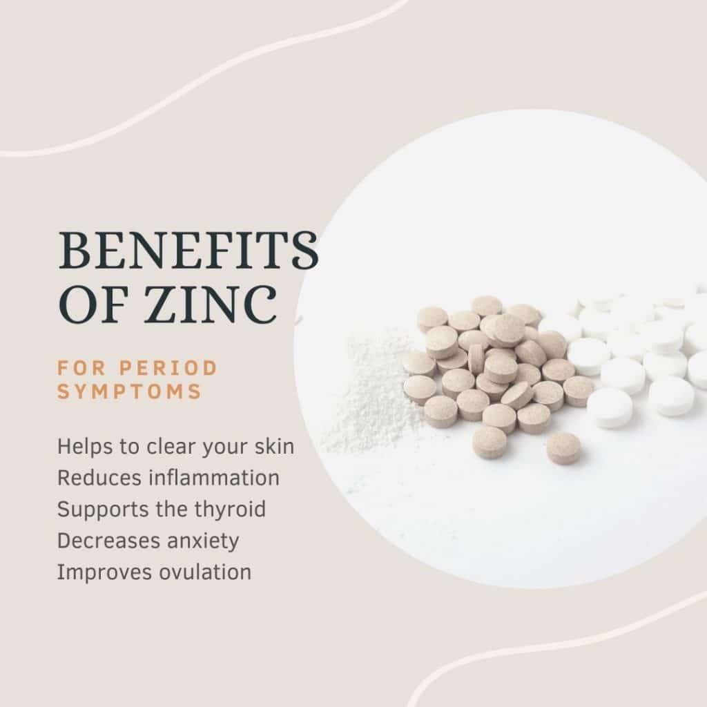 benefits of zinc for PMS symptoms