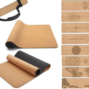 natural yoga mat made of cork